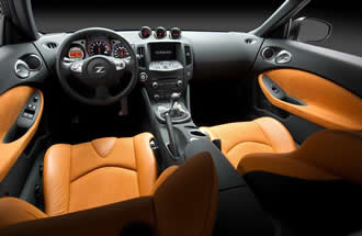 The interior receives Infiniti like styling upgrades, and feels much more refined and luxurious than the 350z.